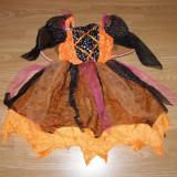 Costum carnaval serbare vrajitoare zana pentru copii de 4-5-6 ani - Costum Halloween, Marime: Masura unica, Culoare: Din imagine