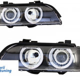 Faruri Angel Eyes BMW Seria 5 E39 Sedan Touring (1996-2003) Black Grey Edition