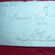 Plic circulat de la Blaj la Cluj 1934