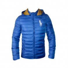 Geaca Ralph Lauren Model Slim Culoare Albastru Cod Produs D602 - Geaca barbati, Marime: L, XL, Microfibra