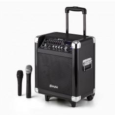 Skytec ST-065 sistem portabil PA 200W Acumulator Bluetooth USB SD MP3 VHF incl. 2 x microfon - Monitor studio