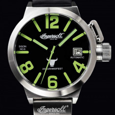 Ceas original Ingersoll Bison No. 6 Automatic IN8900SBK - Ceas barbatesc Ingersoll, Mecanic-Automatic
