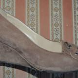 Pantofi dama MAISON MARTINA, mas. 39 - Pantof dama, Culoare: Maro, Piele intoarsa