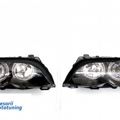 Faruri Angel Eyes BMW Seria 3 E46 (2001-2004) Black Edition