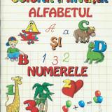 Alfabetul si numerele. Carte de colorat si invatat