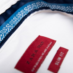 Camasa Barbateasca Zara Slim Fit - Camasa barbati Zara, Marime: M, Culoare: Alb, Maneca lunga