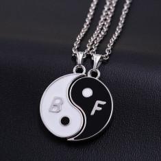 Pandantiv / Colier / Lantisor - BFF Best Friends Ying Yang Model - Pandantiv fashion