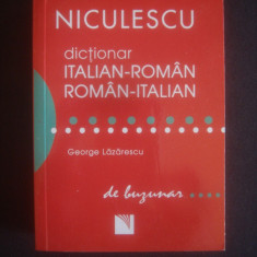 GEORGE LAZARESCU - DICTIONAR DE BUZUNAR ITALIAN ROMAN SI ROMAN ITALIAN - Curs Limba Italiana Altele