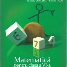 Matematica pentru cls a VI-a (I, II)+ Matematica caiet pentru vacanta cls a VI-a - Carte Teste Nationale Altele, Art