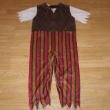 Costum carnaval serbare pirat pentru copii de 7-8 ani marime L - Costum Halloween, Marime: Masura unica, Culoare: Din imagine