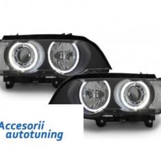 Faruri BMW X5 E53 04-06 Angel Eyes negru-