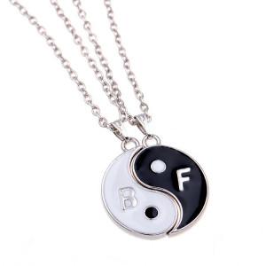 Pandantiv / Colier / Lantisor - SET Best Friends  Yin Yang