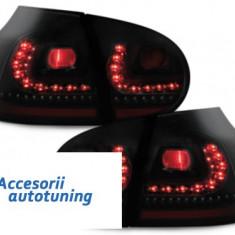 Stopuri LITEC LED VW Golf V 03-09 negru/fumuriu - Stopuri tuning