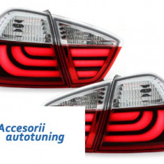 Stopuri LED BMW E90 Seria 3 Lim. 05-08_rosu cristal - Stopuri tuning