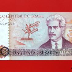 BRAZILIA - 50 Cruzados ND ( 1986 ) - UNC - bancnota america