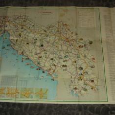 Harta veche turistica si auto - Iugoslavia - 2+1 gratis - RBK17954