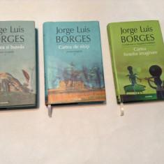 JORGE LUIS BORGES MOARTEA SI BUSOLA/CARTEA DE NISIP/CARTEA FIINTELOR IMAGINARE