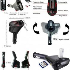 Modulator FM AllWinner GTS 2200, USB, AUX, Card, MP3 Player -Verde/Rosu/Albastru - Modulator FM auto, Modulator FM Stereo