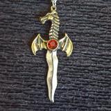 Pandantiv talisman Dragon Athame - Pandantiv fashion