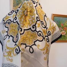 ESARFA SUPERBA MATASE NATURALA, 60 X 60 CM - Batic Dama, Culoare: Din imagine