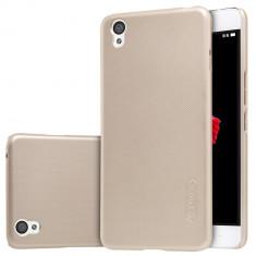 HUSA NILLKIN FROSTED SHIELD ONEPLUS X - BONUS FOLIE ECRAN - Husa Telefon OnePlus, Universala, Auriu, Plastic