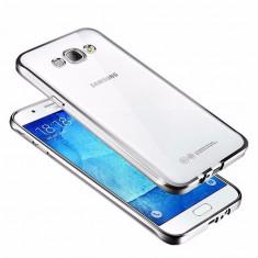 HUSA PLATING TPU SAMSUNG GALAXY J5 2016 -J510F - BONUS FOLIE ECRAN - Husa Telefon Samsung, Argintiu, Gel TPU