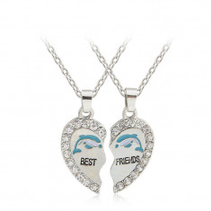 Pandantiv / Colier / Lantisor - BFF Best Friends - Delfin 2 Buc/Set - Pandantiv fashion
