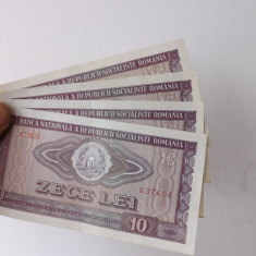 Bancnote Romanesti de 10 lei, 1966.2 au serii succesive. - Bancnota romaneasca