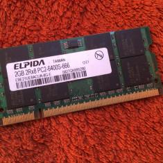 Memorie RAM laptop 2GB DDR2 Elpida ( 800 MHz )