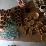 Vase rustice ceramica + sticla