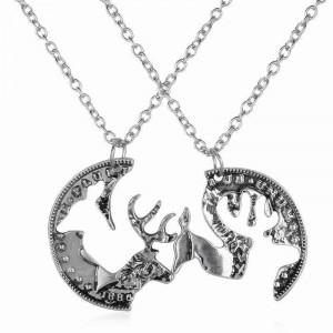 Pandantiv / Colier / Lantisor - BFF Best Friends Moneda Cerb