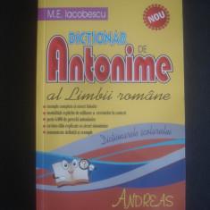 M. E. IACOBESCU - DICTIONAR DE ANTONIME AL LIMBII ROMANE