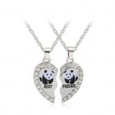 Medalion / Pandantiv / Colier / Lantisor -BFF Best Friends - Urs Panda-2 Buc/set - Pandantiv fashion