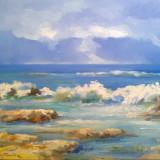 MARINA - pictura ulei/panza - Pictor roman, Marine, Realism