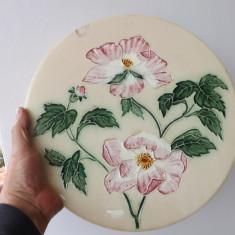 Farfurie din majolica cu diametrul de 33 cm, din sec.XIX.Reducere! - Arta Ceramica