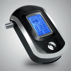Alcooltest - Etilotest Digital Police cu ecran LCD si 5 mustiucuri - AlcoolTest auto