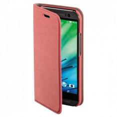 Husa Hama HTC One M8 2014 + folie protectie display + stylus - Husa Telefon Hama, Roz, Piele Ecologica, Cu clapeta