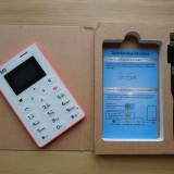 Telefon mobil AIEK M5 - cel mai mic din lume ALB/ROZ. NOU!