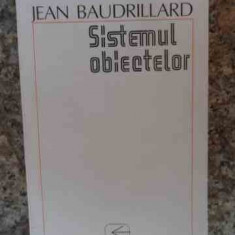 Sistemul Obiectelor - Jean Baudrillard, 533901