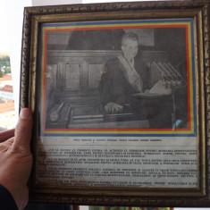 Tablou cu Nicolae Ceausescu la depunerea juramantului. - Reproducere, Portrete