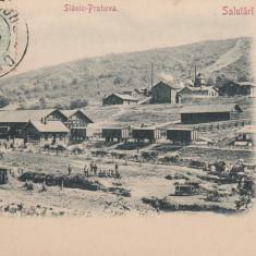 SALUTARI DIN ROMANIA, SLANIC PRAHOVA, CLASICA, TCV, CIRCULATA 1902 - Carte Postala Muntenia pana la 1904, Printata
