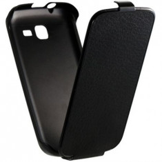Husa Anymode Samsung Galaxy Trend Lite S7390 Fresh Duos S7392 + stylus - Husa Telefon Anymode, Negru, Cu clapeta