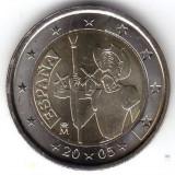 SPANIA moneda 2 euro comemorativa 2005, UNC, Europa, Cupru-Nichel