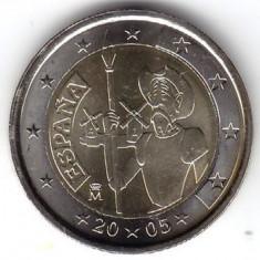 SPANIA moneda 2 euro comemorativa 2005, UNC