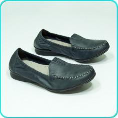 DE FIRMA → Mocasini—pantofi dama, DIN PIELE, extracomozi, GABOR → femei | nr 40 - Mocasini dama Gabor, Culoare: Antracit, Piele naturala