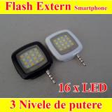 Blitz telefon  lumina led flash 3 nivele de putere 16- LED -uri