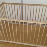 Patut Ikea - Patut lemn pentru bebelusi Ikea, 120x60cm, Altele