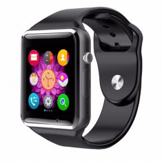 Ceas Telefon Apple SMART-WATCH Inteligent SIM + slot de memorie - Smartwatch iUni, Otel inoxidabil, Android Wear