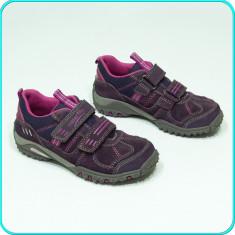 DE FIRMA → Pantofi sport, PIELE, aerisiti+impermeabili, SUPERFIT → fete | nr. 29 - Adidasi copii, Culoare: Mov, Piele naturala