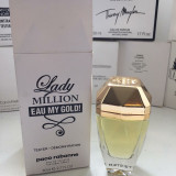 Tester Paco Rabanne lady million eau my gold 80 ml - Parfum femeie Paco Rabanne, Apa de toaleta